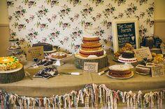 1950s Spring Village Fete Wedding Cake Table http://www.lifelinephotography.co.uk/