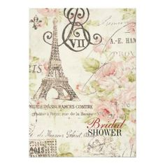 Vintage pink Floral Paris Eiffel Tower Card Discount Dealsplease follow the link to see fully reviews...