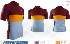 Maroon/Gold SS Neck-Zip Cycling Jersey - Godfrey