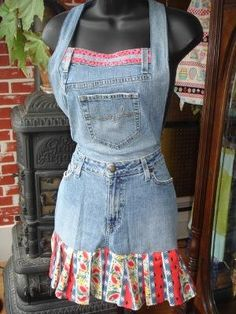 4d3309a7f0e3 24+ best apron images on Pinterest in 2018   Jean apron, Sewing ...