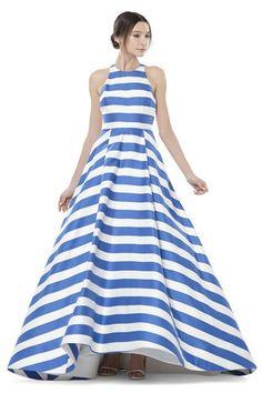 30 Fancy Dresses That SLAY #refinery29 http://www.refinery29.com/black-tie-dresses#slide-21 Show your stripes.