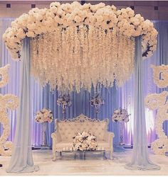 """Indian Wedding Decoration Ideas stage - The center stage becomes the most important area in any marriage. In an Indian wedding, it is called """"Mandap"""". wedding ideas Cozy-Chic Wedding Decoration Ideas to Enchant Your Big Day - Momo Zain Wedding Hall Decorations, Wedding Reception Backdrop, Marriage Decoration, Engagement Decorations, Wedding Mandap, Backdrop Decorations, Reception Stage Decor, Indian Wedding Receptions, Flowers Decoration"""