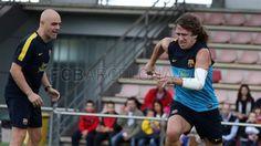 Carles Puyol on training, 21 October 2012 / Photo: Miguel Ruiz, FC Barcelona
