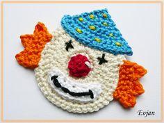 ♥ Clown mit blauem Hütchen ♥ von Evjan auf DaWanda.com