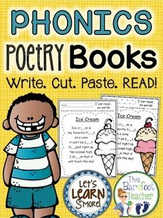 Phonics Poetry Book, poetry, poems, phonics, vowels, digraphs, diphthongs, blends, literacy, centers,********NOW ALSO INCLUDES COPIES WITHOUT FILL IN THE BLANK!***************************FREE SAMPLES IN DOWNLOAD*******************Great product to practice phonics and introduce poetry.