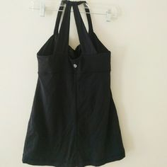 Lululemon black active top Perfect condition, barely worn, built in support, mesh like straps lululemon athletica Tops Tank Tops
