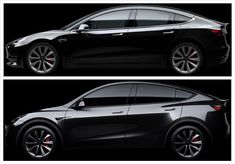 Tesla Model Y & Model 3 Visual Comparison — Side by Side, Morphing, Tesla Inc, New Tesla, True Car, Compact Suv, Electric Cars, Concept Cars, Tesla Models, Innovative Companies, Sedans