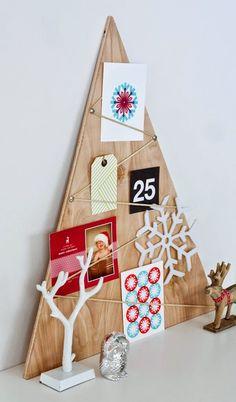 дневник дизайнера: Оригинальные новогодние елки из фанеры. 10 идей для вдохновения