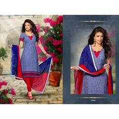 Rs.1,625.00 Unstitched chanderi silk cotton top and bottom with designer dupatta