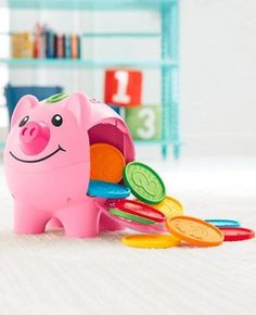 Buy Game Toy Laugh Learn Smart Stages Piggy Bank Baby Toddler Development Fun at online store Pink Piggy Bank, Sing Along Songs, Learn To Count, Toddler Development, Cute Piggies, Games To Buy, Square, Thinking Skills, Toys Shop