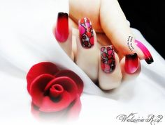 red sexy nails - 35 Unique Nail Designs