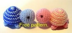 Crochet Turtle..super cute... really need to get my 1st project done so I can start on all these cute things!