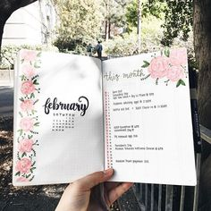 15 Gorgeous Pink Themed Bullet Journal Layout and Spread Ideas February Bullet Journal, Bullet Journal Monthly Spread, Bullet Journal 2020, Bullet Journal Ideas Pages, Bullet Journal Inspo, Bullet Journal Layout, Bullet Journal Assignment Tracker, Bullet Journal Months, Bullet Journal Month Cover