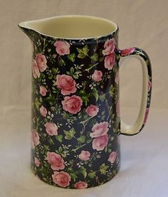 So pretty ~ where to Pin it ???  Chintz - (water pitcher or creamer?)  such a pretty pattern.