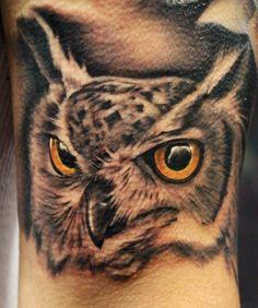 Realistic Owl Tattoo by Alonzo Gonzales