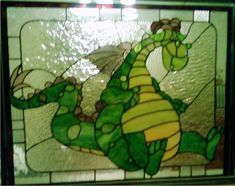 peges dragon elliot stained glass panel