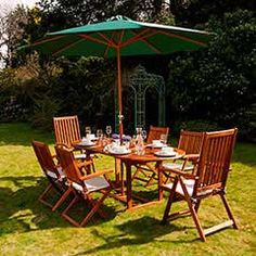 Buy Ellister Portland FSC Acacia 6 Folding Chair 150cm Oval Extending Dining Set at Guaranteed Cheapest Prices with Rapid Delivery available now at Greenfingers.com, the UK's #1 Garden Furniture Store