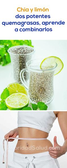 Lemon and Chia Seeds for Weight Loss – Lose 20 Pounds In 1 Month - naturall diet team Healthy Juices, Healthy Drinks, Get Healthy, Healthy Recipes, Herbal Remedies, Health Remedies, Lose 20 Pounds, Natural Treatments, Healthy Weight Loss