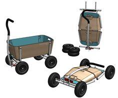 Easy folding Beach Wagon! Faltbare Bollerwagen, opvouwbare bolderkar