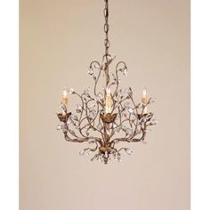 Hampton Bay 4-Light Oil Rubbed Bronze Crystal Small Chandelier ...