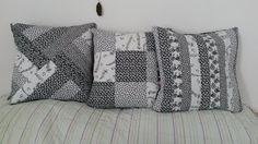 Kit capas de almofadas preto e branco