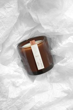 Velvet Woods and Amber scented candle by WXY Candles. Each candle is made with a wooden wick and comes in the chunkiest glass. Cleaner, better, fairer. | www.wxycandles.com Amber Glass Jars, Glass Candle, Candle Jars, Soy Candles, Scented Candles, Candle Packaging, Perfume Store, Candlemaking, Homemade Candles