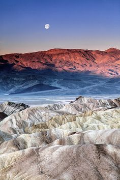 Moonset (Death Valley National Park,California) by ShutterOak. #Beautiful #Places #Photography