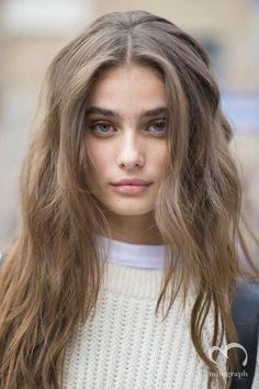 Light brown long hair