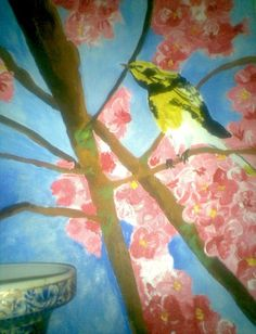My art work  canvas acrylic  Japanese cherry blossoms