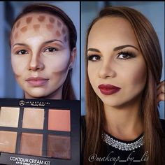 Contouring for tall and wide foreheads