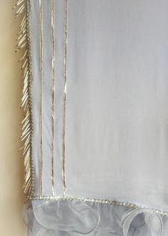 Order contact my whatsapp number 7874133176 Pretty tassels on powder blue ruffle saree by label Kanupriya Simple Pakistani Dresses, Pakistani Dress Design, Kurti Embroidery Design, Embroidery Suits, Kurti Neck Designs, Saree Blouse Designs, Lace Saree, Pink Saree, Sari Design