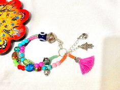 SALEBOHEMIAN GYPSY bracelet ethnic bracelet  Evil eye by Nezihe1
