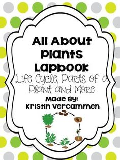 This lapbook has everything plant related in it!  Students can create this lapbook to help aid them in their plant unit.   The lapbook contains the following:  * Plants Have, Need, Give Brainstorm page * Flipbook to label the parts of a plant * Plant life cycle order - seed, root/stem, leaves, flower * Notes detailed the items plants provide the Earth as well as useful products that come from plants * Flipbook to record what plants provide * Flipbook to record useful products that come from…