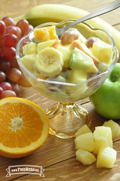 Magical Fruit Salad. Easy to make and yummy. #kidapproved #15minuteprep #foodhero
