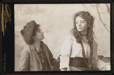 """[Jessie Mackaye as Micah Dow and Maude Adams as Lady Babbie in """"The Little Minister"""". Old Photos, Vintage Photos, Maude Adams, Quality Street, Famous Women, Jessie, Victorian, Actresses, Lesbians"""