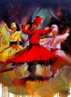 Whirling - painting by ALI NEMAH