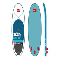 """If you could only ever have one paddleboard, the 2016 Red Paddle Co Ride 10'6"""" is the one we'd tell you to get – it's already the world's most popular inflatable SUP.  Its popularity is down to its versatility. It's designed to float and glide easily on flat water, and it has just the right amount of curve in the plan shape so it rides smoothly and predictably in surf, no matter what kind of rider you are. And it's 120mm/4.7"""" thick, which increases stiffness while not affecting ride and…"""
