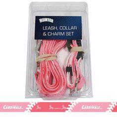St. Louis Cardinals MLB Dog Collar & Leash Set (Pink)