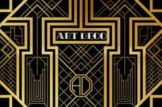 An Art Deco style pattern inspired by the 2013 Great Gatsby film poster.