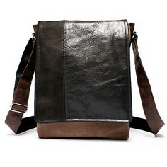 Mens leather satchel leather man bag  by BrandiaManufacture