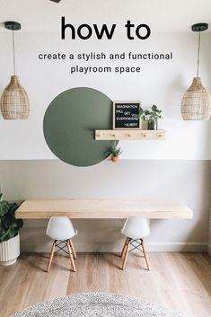 Get inspired by this playroom inspiration. Combining the clever use of paint and furniture, you are going to learn how to create a stylish and functional playroom. Prepare to get inspired to transform a space in your home! #AcePartner #mylocalAce #BenjaminMoore #AceHardware Floating Desk, Ikea Floating Shelves, Home And Deco, New Room, Kids Bedroom, Sweet Home, Room Decor, House Design, Living Room