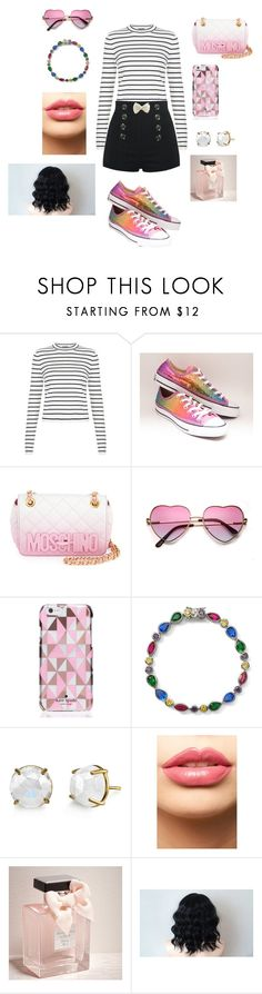 """""""Playful outfit"""" by sosfamforlife ❤ liked on Polyvore featuring Converse, Moschino, Kate Spade, Lenox, LASplash, Abercrombie & Fitch, women's clothing, women, female and woman"""