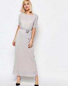Selected+Nune+Maxi+Dress+in+Metallic+Crinkle