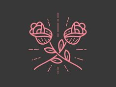 Draw Rose Roses are pink - Little illo I whipped up for fun repurposing some unused client work. Design Tattoo, Tattoo Designs, Logo Design, Graphic Design Inspiration, Tattoo Inspiration, Tattoo Studio, Silkscreen, Rose Illustration, Tattoo Illustration