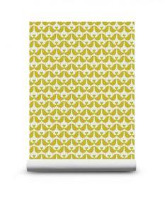 Lovebird Mustard Behang - Geel | Behang | Beautiful Happy Things - Isak & more