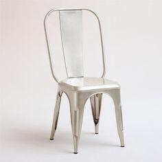 Gunmetal Cargo Stacking Chair modern chairs