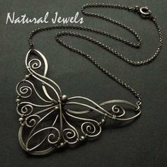 Streams of Silver - 925 Sterling and Fine Silver Necklace by Natural Jewels