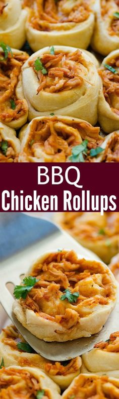 BBQ shredded chicken and cheese rolled up in pizza dough & baked to perfection! We love these!