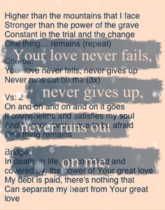 Fight the Good Fight of Faith~ I do love this song
