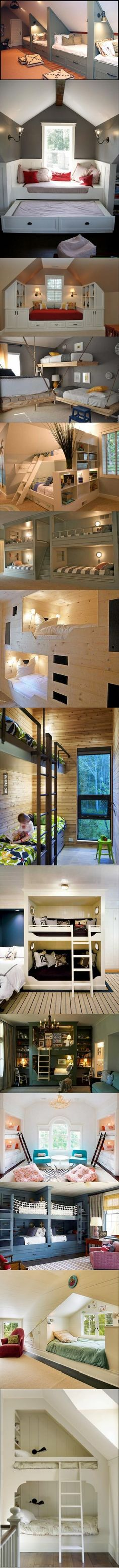 Bunk beds galore.
